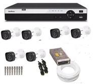 Kit Cftv 6 cameras  Intelbras Dvr Intelbras Hdcvi 1008 com HD
