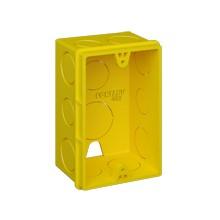 Caixa de Luz FORTLEV AMARELA 4x2