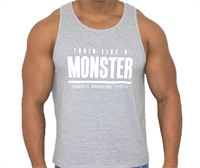Camiseta Train Like a Monster (Cinza) - Top Monster