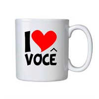 Caneca Porcelana Personalizada I Love You