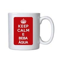 Caneca Porcelana Personalizada Keep Calm Beba Agua