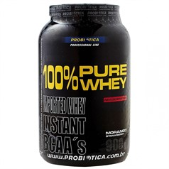 100% Pure Whey Protein (Sabor Morango) - Probiótica - 900g