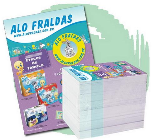 5.000 Panfletos PROMOCIONAIS 20x14cm 4/4 cores
