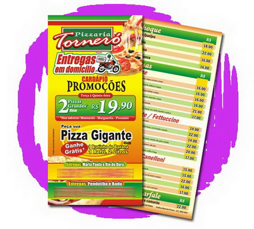 20.000 Panfletos PROMOCIONAIS 19x10cm 4/4cores