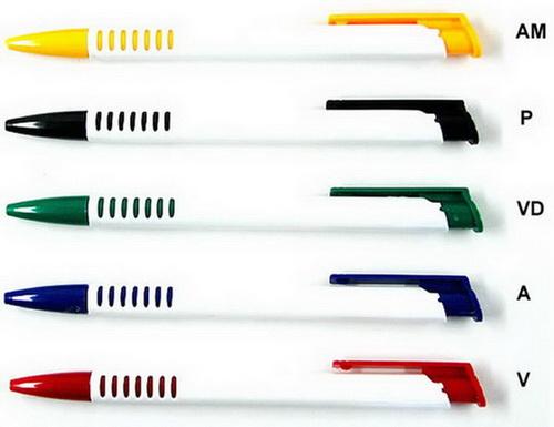 250 Caneta Personalizada promocional  MP3017, 2 cores de impressão.