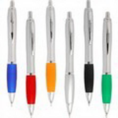 2.000 Caneta personalizada promocional  MP206, 2 cores de impressão.
