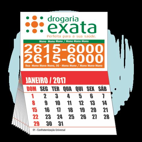 Imãs de Geladeira 10.000 UNIDS. R$0,220 (cada)PROMOCIONAL 7x5cm com Calendário 7x5cm