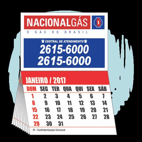 Imãs de Geladeira 2.000 UNIDS. R$0,280 (cada)PROMOCIONAL 7x5cm com Calendário 7x5cm