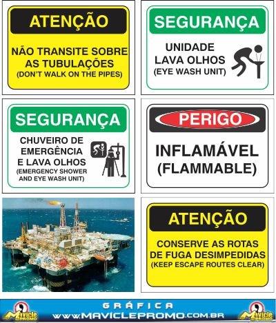 Placa - Adesivo - Sinalização Naval - OFFSHORE