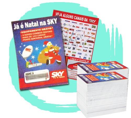 Grátis 5.000 Panfletos PROMOCIONAIS 10x14 cm 4/4 cores