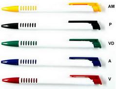 Caneta personalizada Promocional 1.000 UNIDS. Modelo MP3017, 2 cores de impressão.