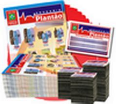 Kit 20.000 imãs de Geladeira 7X5cm + 20.000 panfletos 14x10cm 4/4 Q4B