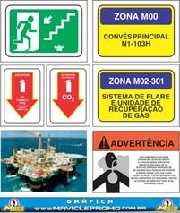 Sinalização Naval OFFSHORE - Placas e Adesivos