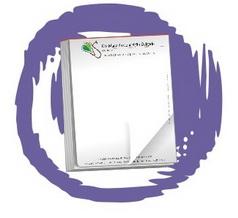 Blocos 50 UNIDS. c/ 100 folhas, RECEITUÁRIO, formato 20x14cm