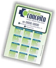 Calendários Imantado Parcial 1.000 UNIDS. formato 14,7X10 cm