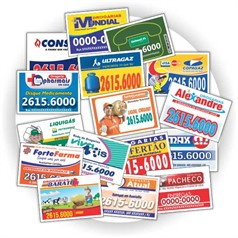 10.000 Imãs de Geladeira R$0,089(cada) PROMOCIONAIS 7x5cm.