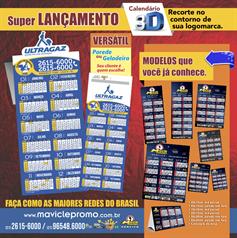 Calendários 3D Especial 4.000 unids. R$0,68