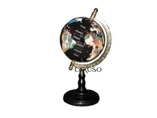 Globo Dourado Preto Pedras 04022