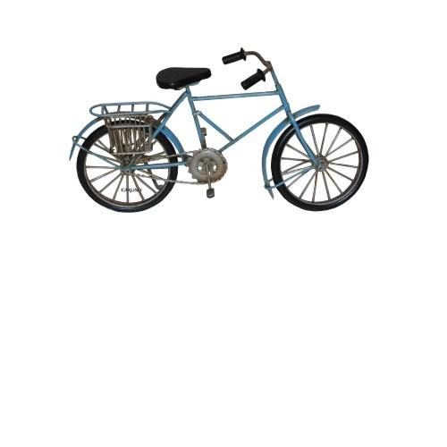 Bicicleta Azul Cesta Traseira 47007