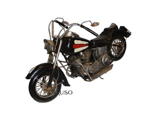 Miniatura Moto GD Preta com Listras Tanque