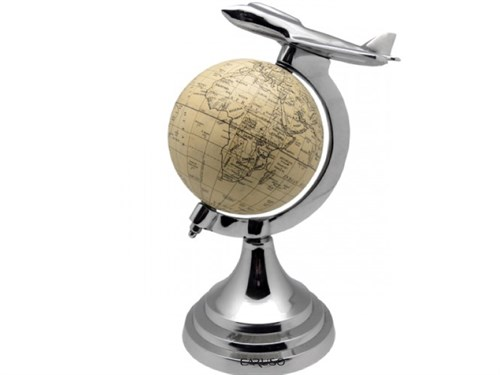Globo Bege c/ Avião - GL-003