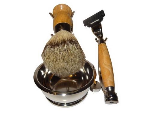 Kit Barbear Metal e Madeira