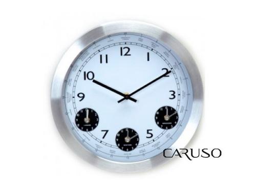 Relógio de Parede Aluminio 3 Relógios