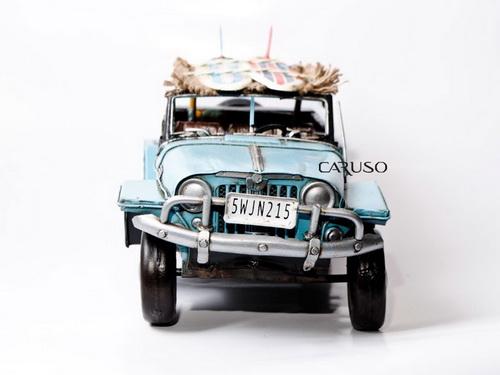 Miniatura Carro Azul com Tapete e Pranchas