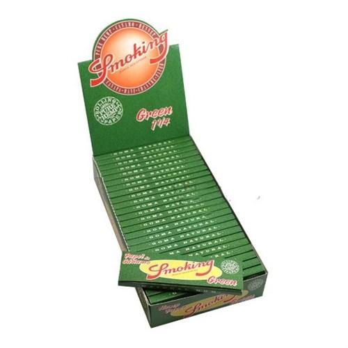 Seda Smoking Green Pure Hemp 78 mm caixa com 25 livretos