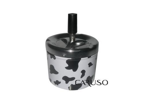 Cinzeiro de Mesa Aluminio com Estampa de Vaca