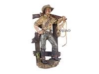 Cowboy com Arma no Ombro Resina 001275