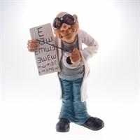 Caricatura Medico Oftalmologista
