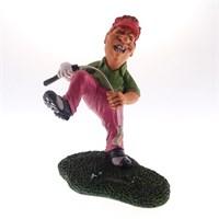 Caricatura jogador de golf perdedor
