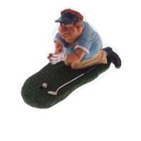 Caricatura jogador de golf vencedor