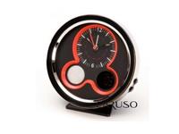 Relógio de Mesa Cromado Analógico/Digital Vermelho