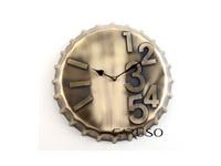 Relógio de Parede Forma de Tampa Bronze