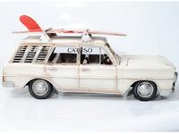 Miniatura Carro Branco com Pranchas