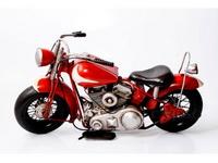 Miniatura Moto Vermelho e Branco