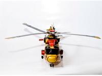 MIniatura Helicoptero Amarelo e Vermelho