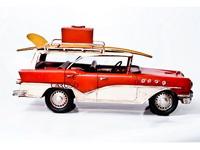 Miniatura Carro Vermelho com Pranchas e Mala