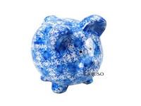 Cofre Porco Flores Azul