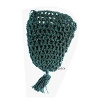 Cestinha Especial Feita em Crochê Verde Escuro