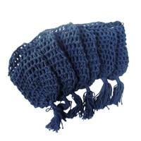 Cestinha Especial Feita em Crochê Azul Escuro