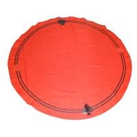 Toalha Redonda Vermelha Sinuca 2,20m