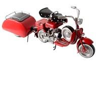 Miniatura Vespa Vermelha com Step e Reboque 001282