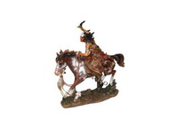Indio Guerreiro a Cavalo c/ Machado