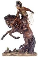 Cowboy Domando O Cavalo