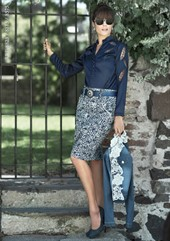 Saia Skirt Jacquard - Joyaly - 8575