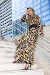 Vestido Longo Leopardo - 9082 - Joyaly