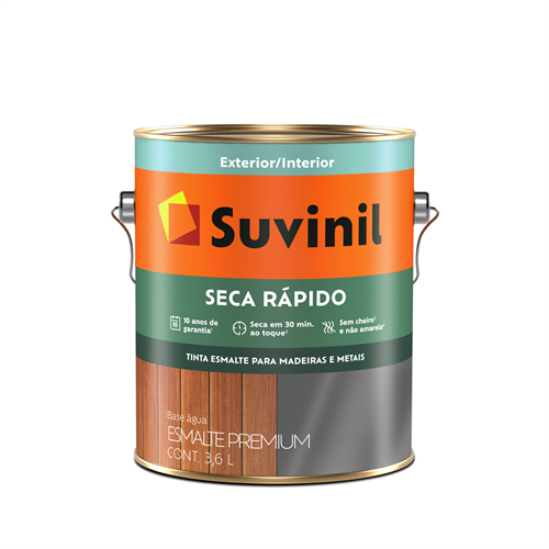 Suvinil Seca Rápido - Esmalte Brilhante 3,6 L